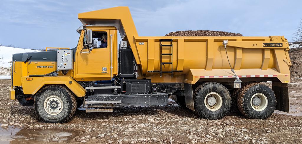 camion electrique tardif diesel